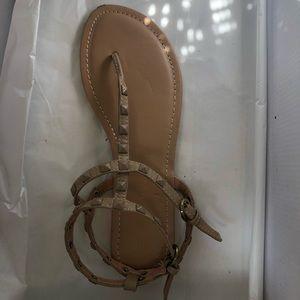 Nude Wild Diva Sandals size 7,5